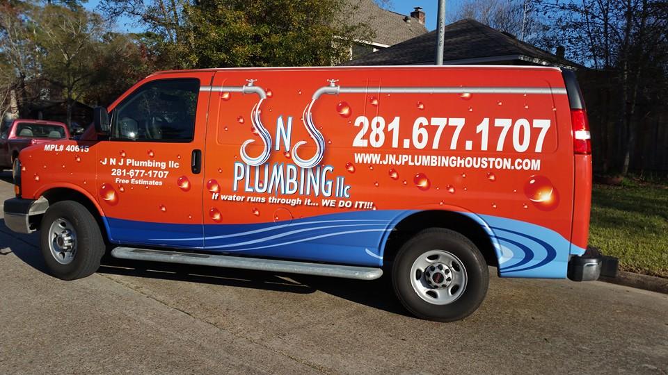 JNJ Plumbing Van