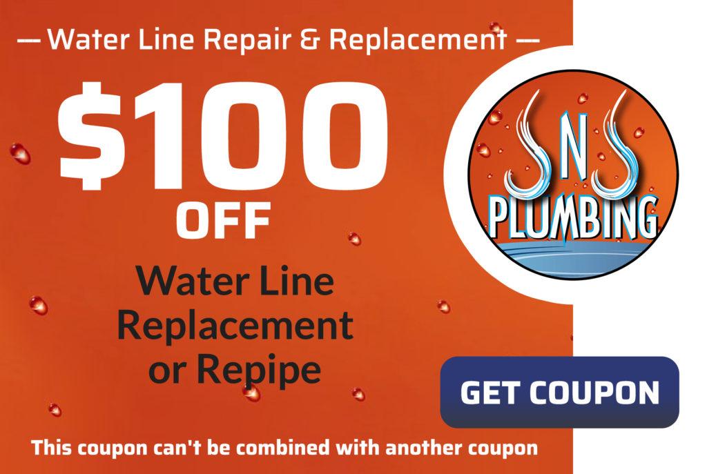 JNJ Water Line Repair Coupon